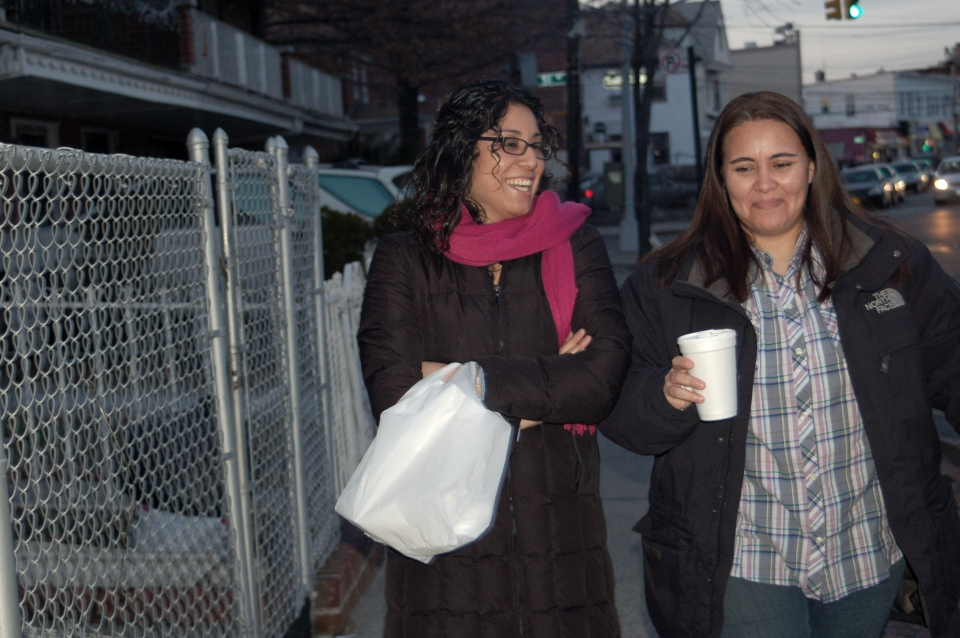 Monica Alcota and Cristina Ojeda are directly impacted by the Defense of Marriage Act. (Photo: Maria Watts)