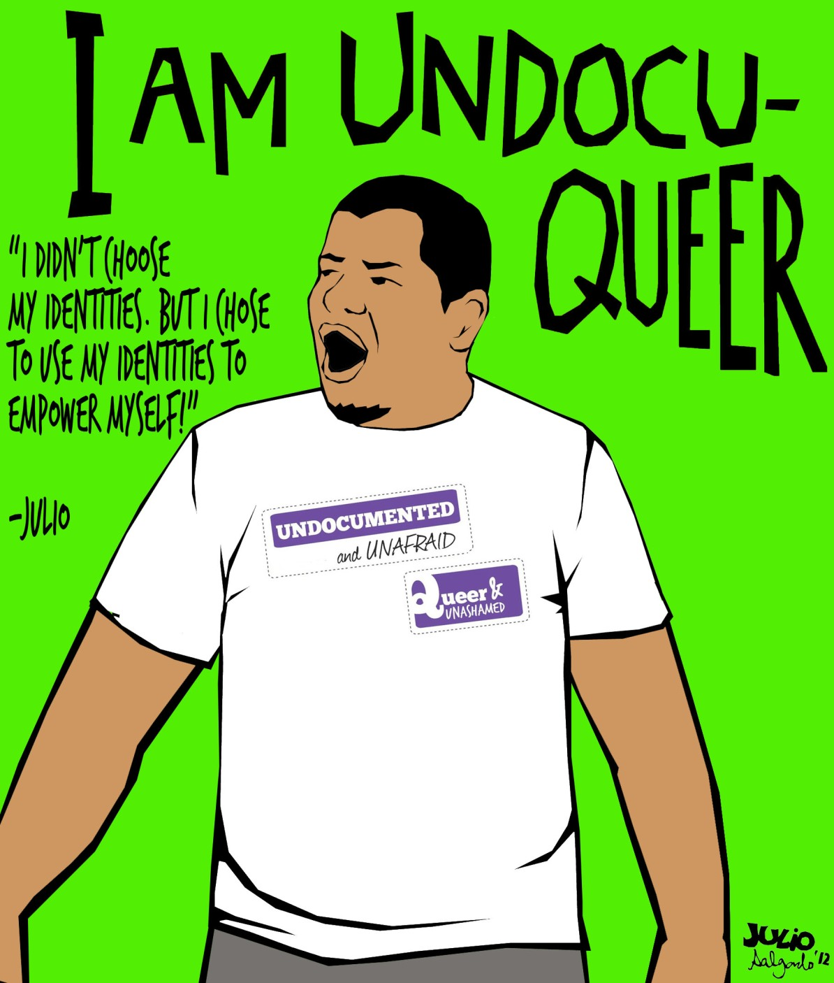 An image from Julio Salgado's 'I am UndocuQueer' series.